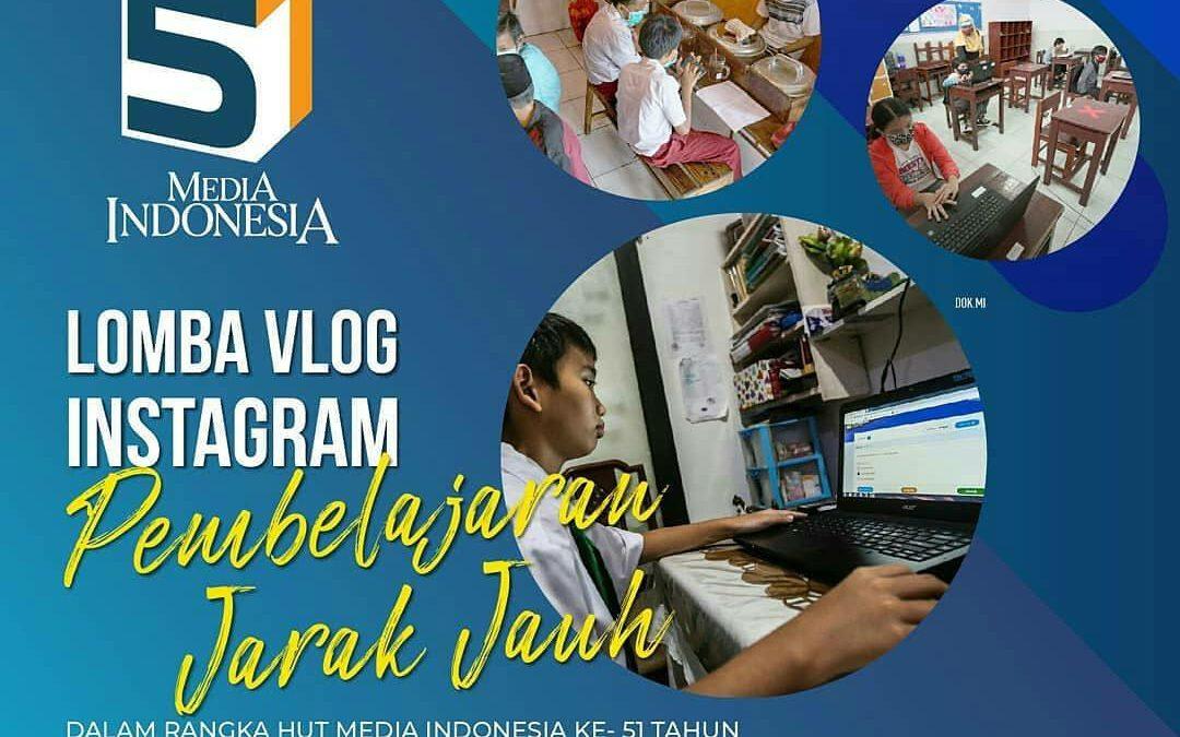 Lomba Vlog Instagram Pembelajaran Jarak Jauh Berhadiah Jutaan Rupiah